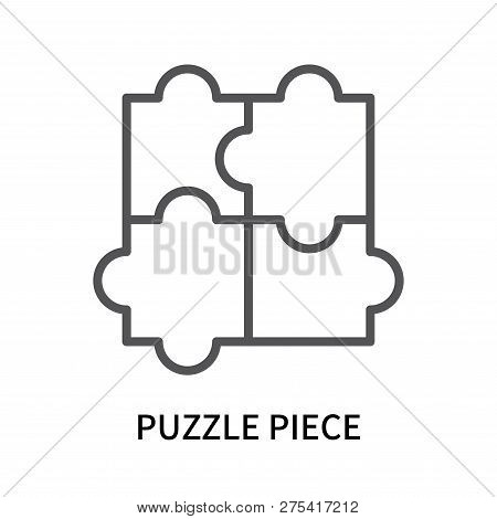 Puzzle Piece Icon Isolated On White Background. Puzzle Piece Icon Simple Sign. Puzzle Piece Icon Tre