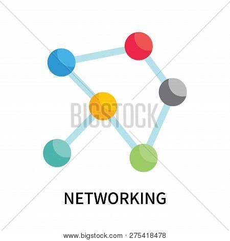 Networking Icon Isolated On White Background. Networking Icon Simple Sign. Networking Icon Trendy An