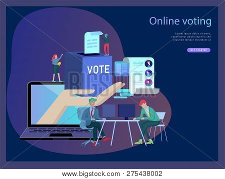 Voting And Election Concept. Pre-election Campaign. Promotion And Advertising Of Candidate. Citizens
