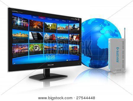 Internet television concept
