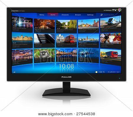 Breitbild-TV mit streaming-video-Galerie