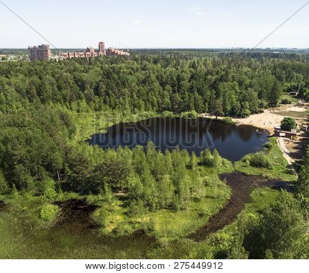 Black Lake In A Zelenograd In Moscow, Russia
