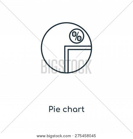 Pie Chart Icon In Trendy Design Style. Pie Chart Icon Isolated On White Background. Pie Chart Vector