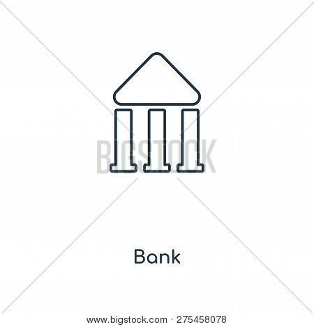 Bank Symbol Icon In Trendy Design Style. Bank Symbol Icon Isolated On White Background. Bank Symbol