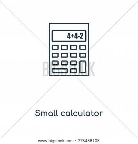 Small Calculator Icon In Trendy Design Style. Small Calculator Icon Isolated On White Background. Sm