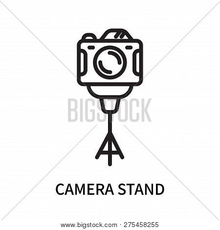 Camera Stand Icon Isolated On White Background. Camera Stand Icon Simple Sign. Camera Stand Icon Tre