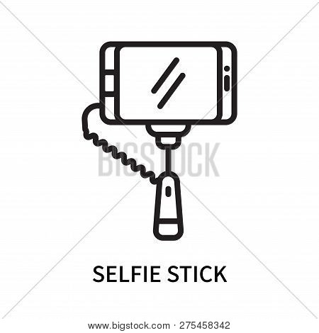 Selfie Stick Icon Isolated On White Background. Selfie Stick Icon Simple Sign. Selfie Stick Icon Tre