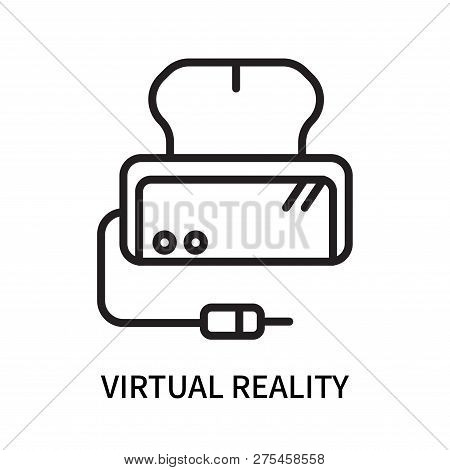 Virtual Reality Icon Isolated On White Background. Virtual Reality Icon Simple Sign. Virtual Reality