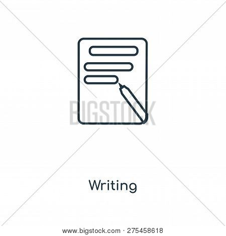 Writing Icon In Trendy Design Style. Writing Icon Isolated On White Background. Writing Vector Icon
