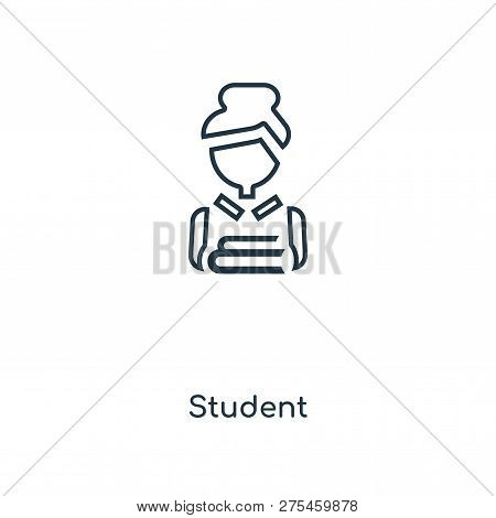 Student Icon In Trendy Design Style. Student Icon Isolated On White Background. Student Vector Icon