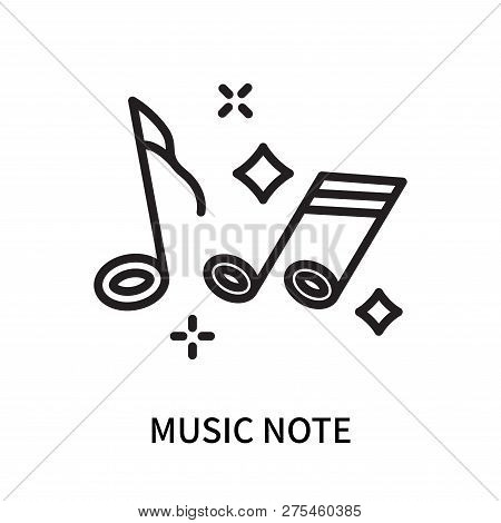 Music Note Icon Isolated On White Background. Music Note Icon Simple Sign. Music Note Icon Trendy An