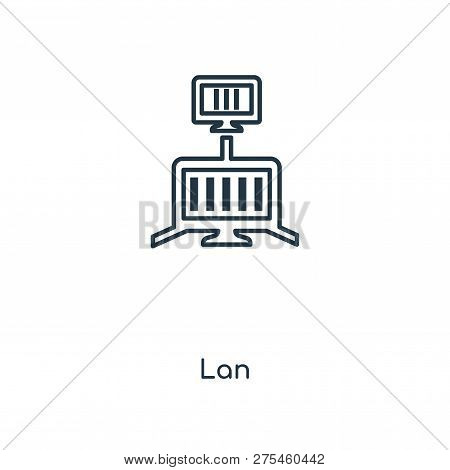 Lan Icon In Trendy Design Style. Lan Icon Isolated On White Background. Lan Vector Icon Simple And M