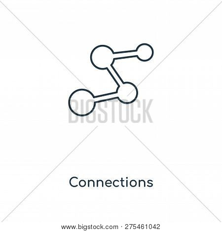 Connections Icon In Trendy Design Style. Connections Icon Isolated On White Background. Connections