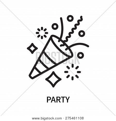 Party Icon Isolated On White Background. Party Icon Simple Sign. Party Icon Trendy And Modern Symbol