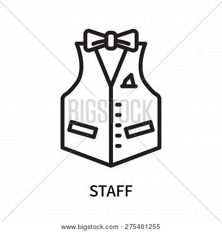 Staff Icon Isolated On White Background. Staff Icon Simple Sign. Staff Icon Trendy And Modern Symbol