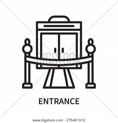 Entrance Icon Isolated On White Background. Entrance Icon Simple Sign. Entrance Icon Trendy And Mode