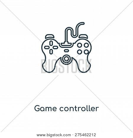Game Controller Icon In Trendy Design Style. Game Controller Icon Isolated On White Background. Game