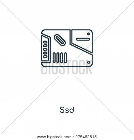 Ssd Icon In Trendy Design Style. Ssd Icon Isolated On White Background. Ssd Vector Icon Simple And M