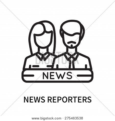 News Reporters Icon Isolated On White Background. News Reporters Icon Simple Sign. News Reporters Ic