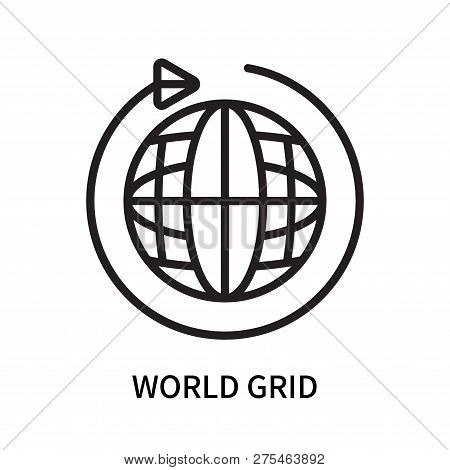 World Grid Icon Isolated On White Background. World Grid Icon Simple Sign. World Grid Icon Trendy An