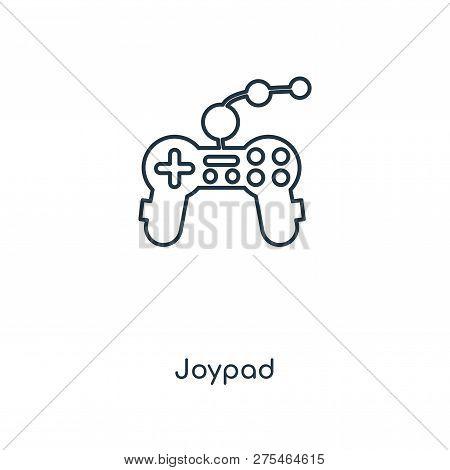 Joypad Icon In Trendy Design Style. Joypad Icon Isolated On White Background. Joypad Vector Icon Sim