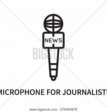 Microphone For Journalists Icon Isolated On White Background. Microphone For Journalists Icon Simple