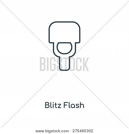 Blitz Flash Icon In Trendy Design Style. Blitz Flash Icon Isolated On White Background. Blitz Flash