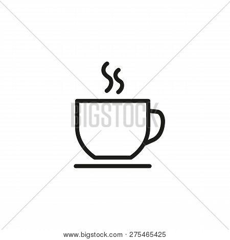 Hot Coffee Cup Line Icon. Tea, Hot Chocolate, Cafe. Coffee Concept. Vector Illustration Can Be Used