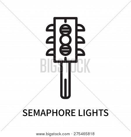 Semaphore Lights Icon Isolated On White Background. Semaphore Lights Icon Simple Sign. Semaphore Lig
