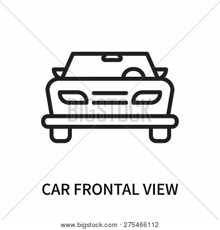 Car Frontal View Icon Isolated On White Background. Car Frontal View Icon Simple Sign. Car Frontal V
