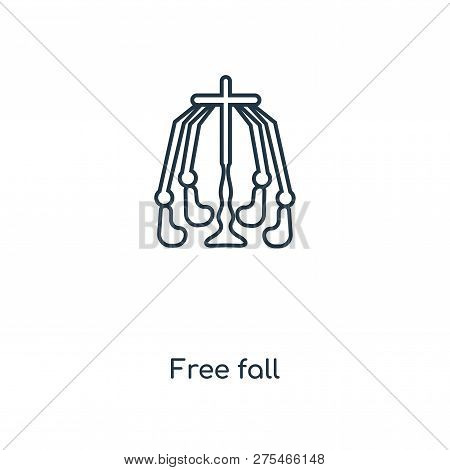 Free Fall Icon In Trendy Design Style. Free Fall Icon Isolated On White Background. Free Fall Vector