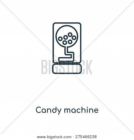Candy Machine Icon In Trendy Design Style. Candy Machine Icon Isolated On White Background. Candy Ma