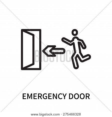 Emergency Door Icon Isolated On White Background. Emergency Door Icon Simple Sign. Emergency Door Ic