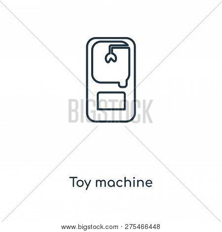 Toy Machine Icon In Trendy Design Style. Toy Machine Icon Isolated On White Background. Toy Machine