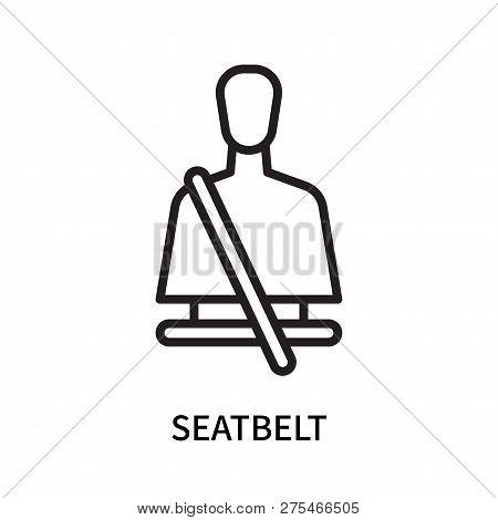 Seatbelt Icon Isolated On White Background. Seatbelt Icon Simple Sign. Seatbelt Icon Trendy And Mode