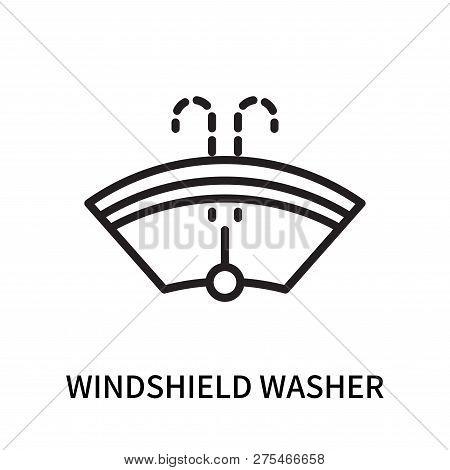 Windshield Washer Icon Isolated On White Background. Windshield Washer Icon Simple Sign. Windshield