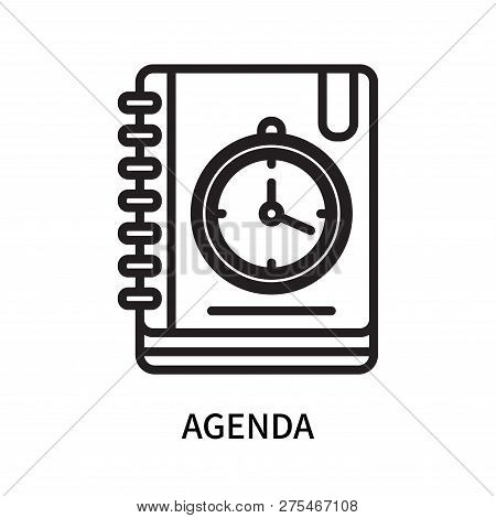 Agenda Icon Isolated On White Background. Agenda Icon Simple Sign. Agenda Icon Trendy And Modern Sym