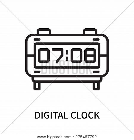 Digital Clock Icon Isolated On White Background. Digital Clock Icon Simple Sign. Digital Clock Icon