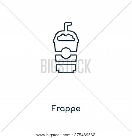 Frappe Icon In Trendy Design Style. Frappe Icon Isolated On White Background. Frappe Vector Icon Sim