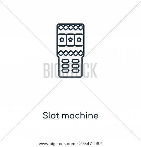 Slot Machine Icon In Trendy Design Style. Slot Machine Icon Isolated On White Background. Slot Machi