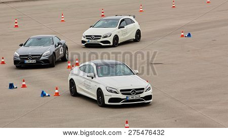 Kiev, Ukraine - October 4, 2016: Mercedes Benz Star Experience. The Interesting Series Of Test Drive
