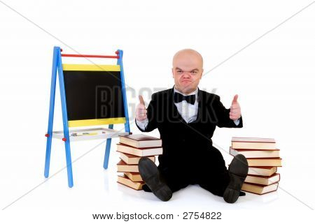 Dwarf, Little Man With Books