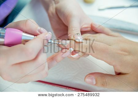 Nail Care And Manicure In A Nail Salon
