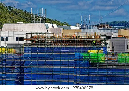 Gosford, New South Wales, Australia - October 27, 2018: Construction And Building Work On Gosford Ho