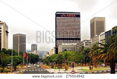 Absa Bank In South Africa. South African Cities. Wonderful Streets Of Cape Town.  Brics Countries. C
