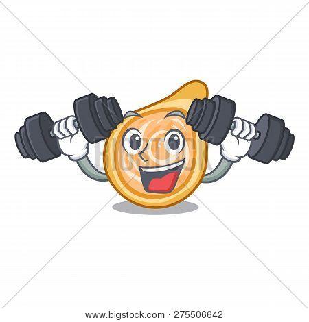 Fitness Chicken Coxinhas On The Table Cartoon