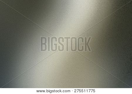 Texture Of Brushed Dark Green Steel With Light Reflection, Abstract Background