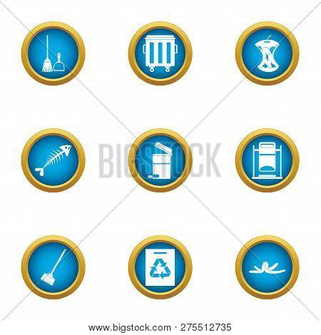 Handling Icons Set. Flat Set Of 9 Handling Icons For Web Isolated On White Background