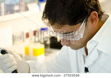 Researcher at work