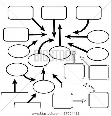 vector set pointer balloons arrows